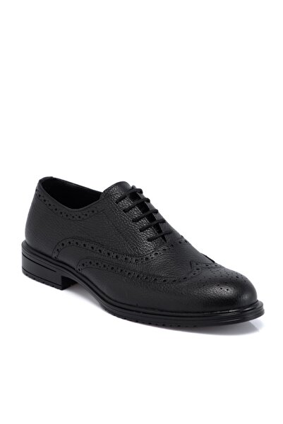 Tergan Siyah Deri Erkek Ayakkabı 55059a41