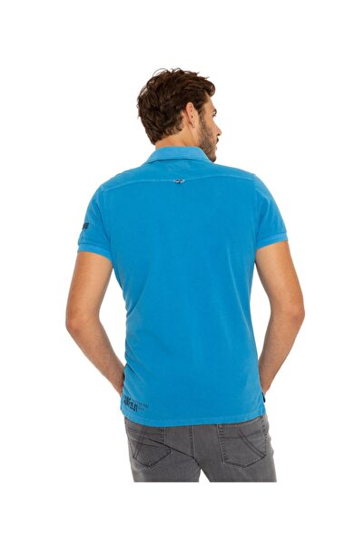 Camp David Erkek Mavi Polo Yaka T-shirt