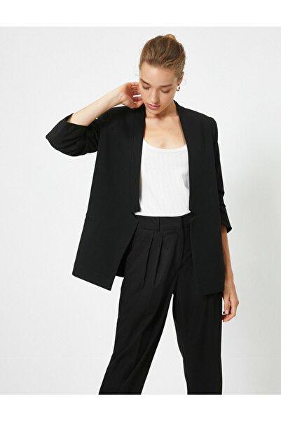 Koton Kadın Siyah Kollu Ceket