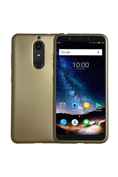 Casper Vıa G1 Plus Uyumlu Premiums Silikon Arka Kapak Altın Renk Kılıf