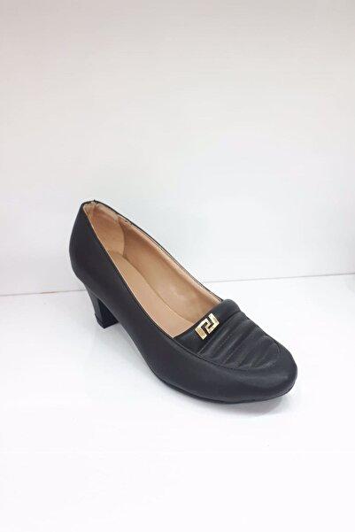PUNTO Kadın Siyah Klasik Ayakkabı