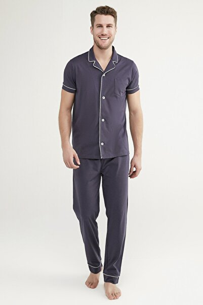 Penti Koyu Indigo Deep Ocean Ss Gömlek Pantolon Takımı