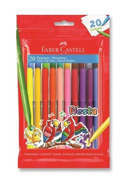 Faber Castell Yıkanabilir 20 Li Fiesta Keçeli Kalem 0.7 Mm Çizgi Kalınlığı