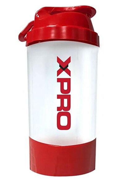 Xpro Nutrition Toz Saklama Hazneli Shaker 500ml Kırmızı