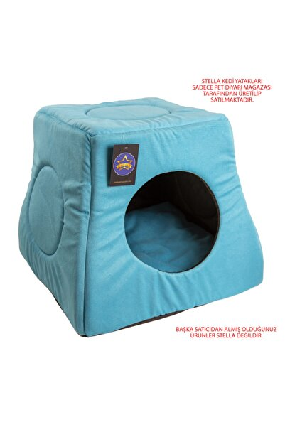 Stella Buz Mavi Üç Fonksiyonlu Kedi Yatak