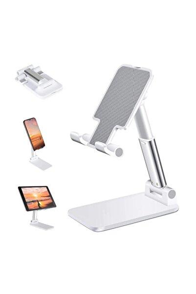 ZMOBILE Masa Üstü Telefon Standı & Masa Üstü Tablet Standı Kademeli Yükseklik Ayarlı Telefon Tutucu Stand