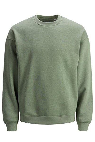 Jack & Jones Erkek Düz Yeşil Sweatshirt - 12186363