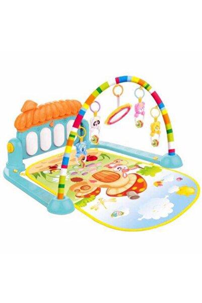BABYCİM Piyanolu Bebek Oyun Halısı Jimnastik Merkezi Aynalı Ve Çıngıraklı Zeka Geliştirici