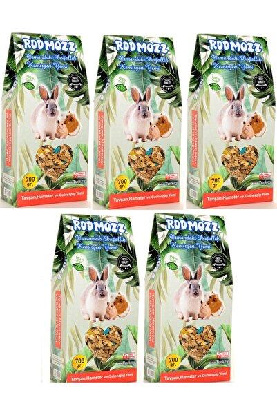 RodMozz Premium Vitaminli Kemirgen Hamster Guineapig Tavşan Yemi 700gr 5 Adet