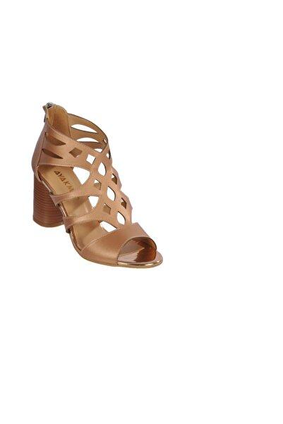 Maje 9837 Pudra Kadın Topuklu Ayakkabı
