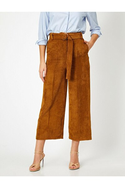 Koton Kemer Detaylı Kadife Pantolon