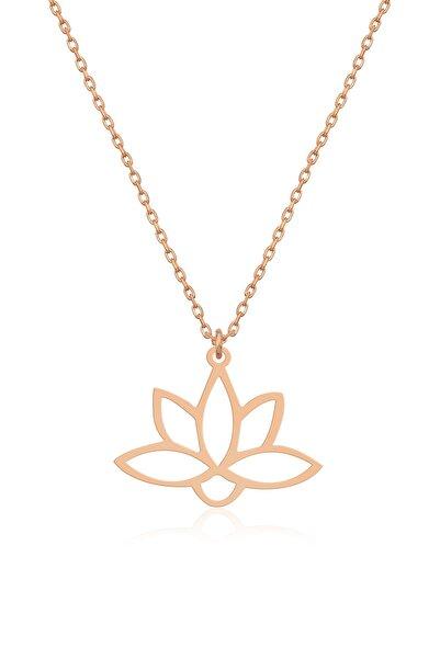dzgsilver Gümüş Lotus Çiçeği Kolye Lotus Çiçeği Model Gümüş Kolye Dn430