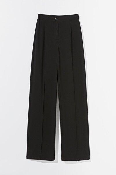 Bershka Kadın Siyah Wide Leg Pantolon