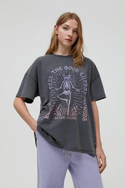 Pull & Bear Yoga Iskelet T-shirt