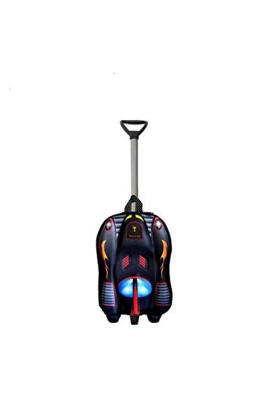 Ewason Batman Araba Kabartma Desenli Anaokulu Ve Günlük Kullanım Çekçekli Tekerlekli Çanta 2in1