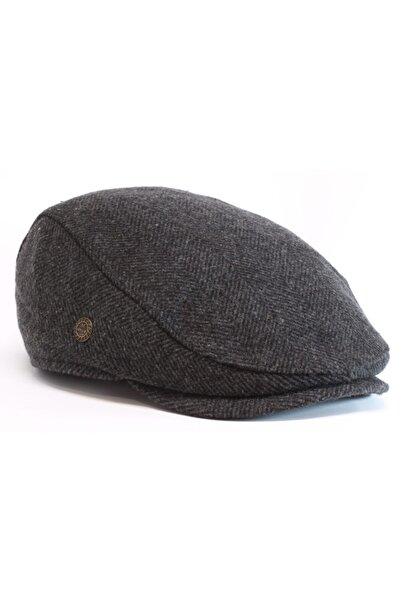 Armalı Şapka Kışlık Gri Yün Spor Kasket