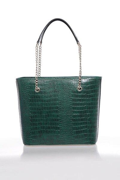 Sergio Giorgianni Kadın  Kroko Yeşil Omuz Çantası Luxury Mp9131