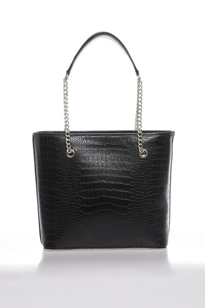 Sergio Giorgianni Kadın Kroko Siyah Omuz Çantası Luxury Mp9131
