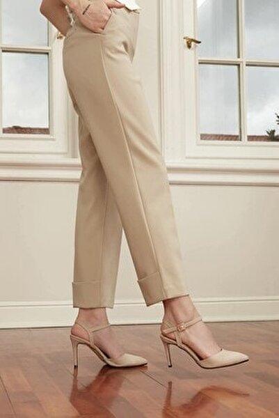 Lucia Bej Bilek Bantlı Topuklu Ayakkabı
