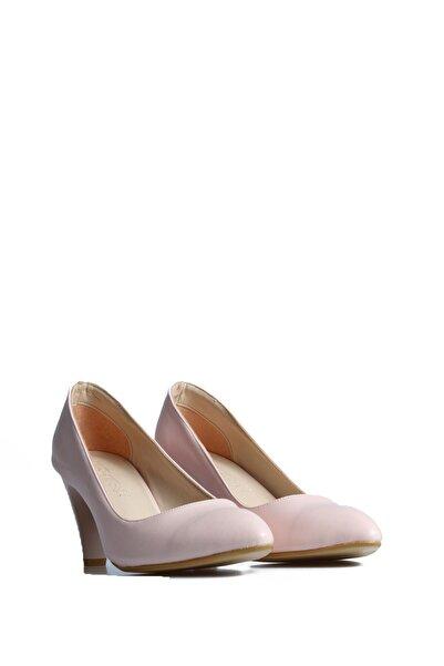 PUNTO Kadın Pudra Günlük Topuklu Ayakkabı 553009