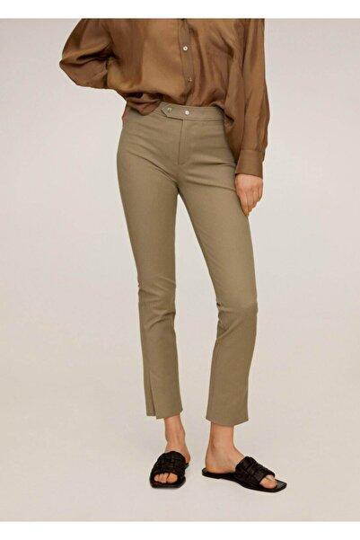 MANGO Woman Kadın Orta Kahverengi Dar Kesim Kısa Paçalı Pantolon 67045916