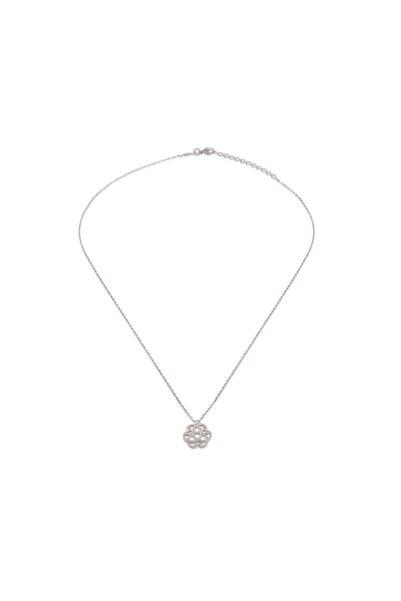KURSHUNI Kadın Beyaz 925 Ayar Gümüş Serenity Kolye