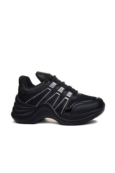Twingo Kadın Siyah Kalın Taban Spor Ayakkabı