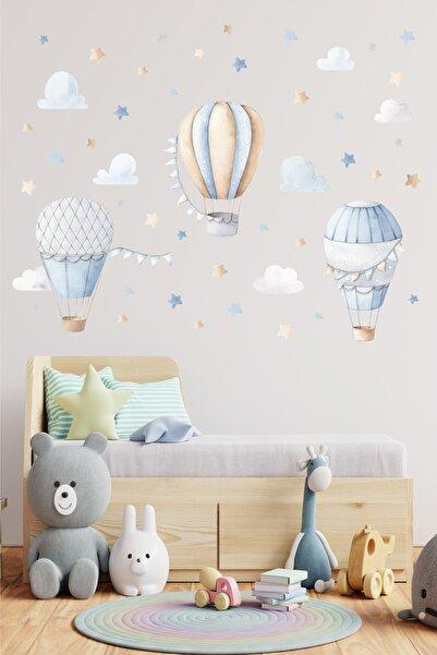 Sticker Ekspres Soft Balonlar Çocuk Odası Duvar Sticker Seti