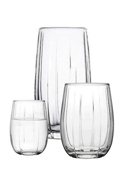 Paşabahçe Linka 18 Parça Su Meşrubat Kahve Yanı Bardağı Takımı Seti Han-krp-420405-420415-420212