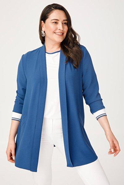Moda İlgi Kadın Lacivert Kol İkili Ceket Indigo