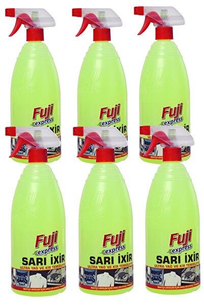 FUJI Sarı Ixir 6'lı 10kat Ultra Güçlü Temizlik Yağ Kir Leke Araç Ve Ev Zorlu Yağ Kirler Için Özel 1000ml