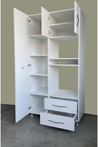 MOBİLİQUE Beyaz Ankastre Fırın Mikrodalga Mutfak Dolabı