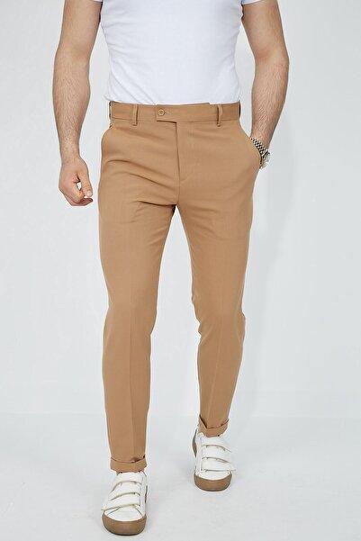 Fc Plus Taba Pilesiz Duble Paça Erkek Pantolon - Slım Fıt
