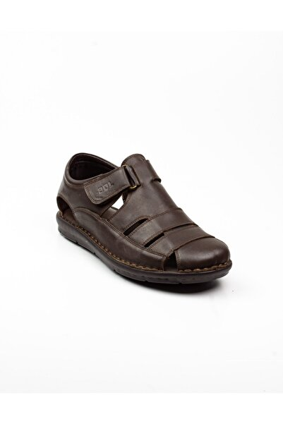 Bulldozer Erkek  Kahverengi Deri Sandalet -41