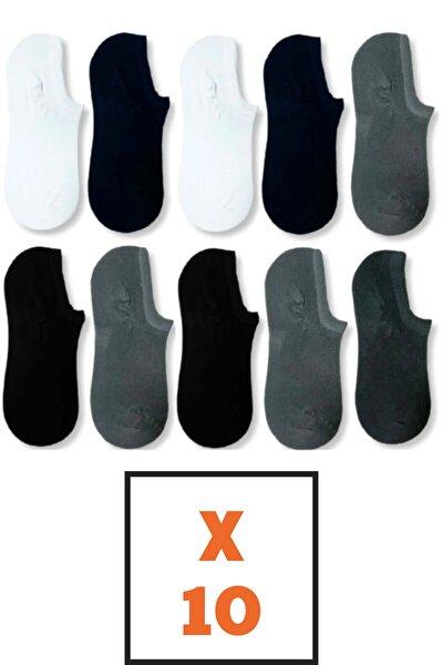 socksbox 10 Çift Bambu Dikişsiz Görünmez Sneakers Çorap