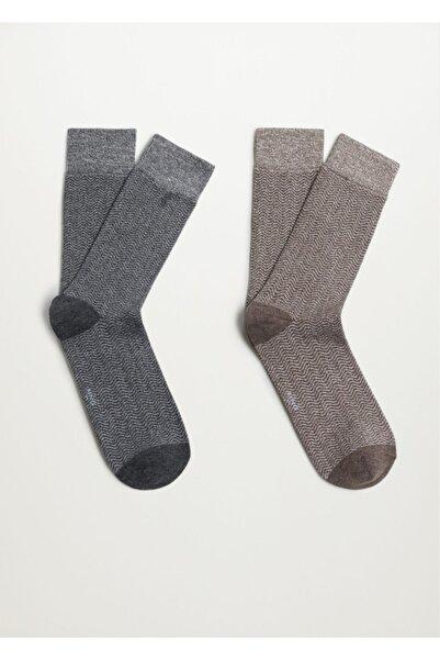 MANGO Man 2'li Çorap
