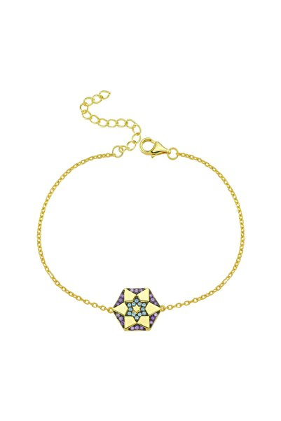 Luzdemia Kadın Sarı Yıldız Bileklik