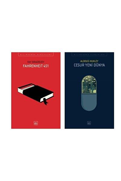İthaki Yayınları Fahrenheit 451 - Cesur Yeni Dünya 2 Kitap Set