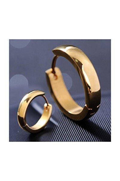 Takı Dükkanı Ince Halka Erkek Bayan Unisex Çelik Küpe Çifti 3mm 3 Renk Mse6