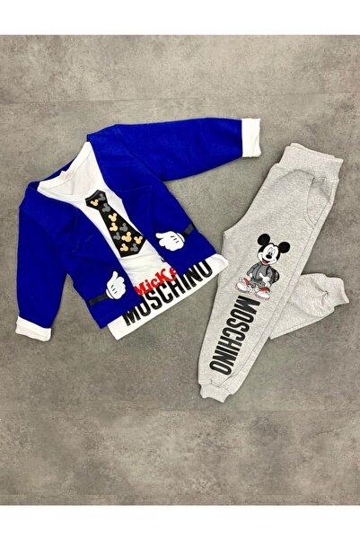 Mickey Mouse Mickey Moschino Mavi Hırkalı Erkek Takım