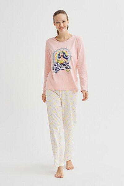 Penti Kadın Çok Renkli Glıtter Wonder Woman Baskılı Pijama Takımı