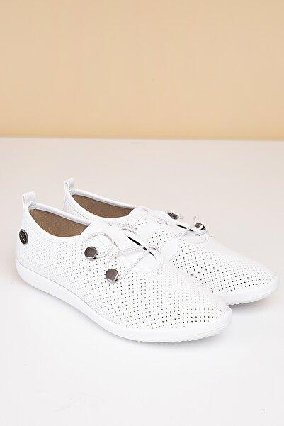 Pierre Cardin Kadın Beyaz Günlük Ayakkabı  Pc-50093