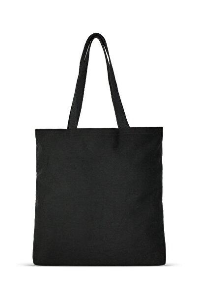 Çınar Bez Çanta Siyah Gabardin Bez Çanta | %100 Pamuk - C0216