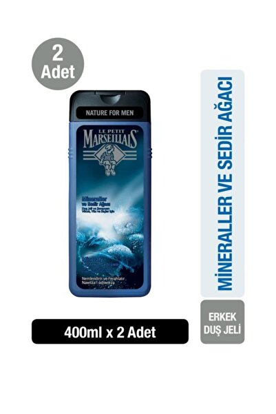 Le Petit Marseillais Mineraller Ve Sedir Ağacı Duş Jeli 400ml X2