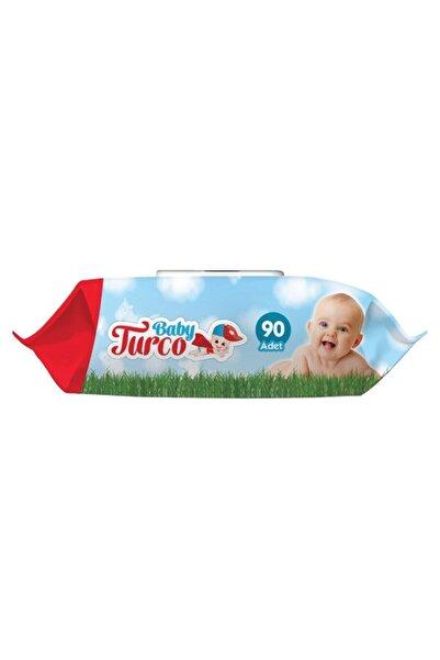 Baby Turco 24 X 90 Yaprak Alkolsüz Islak Bebek Havlusu