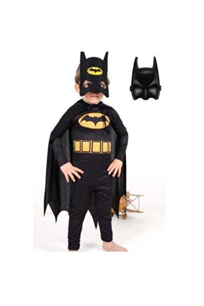 Batman Çocuk Kostümü Maskeli - Pelerinli Ve 2 adet Maskeli