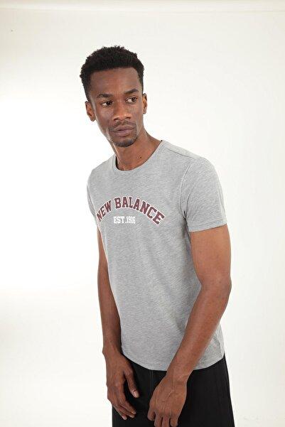 New Balance Gri Erkek T-shirt Mpt025-ag