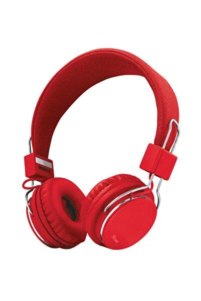 Trust 21822 Ziva Mikrofonlu Kulaklık Kırmızı