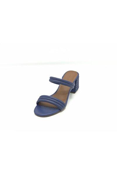 Nursace Kadın Mavi Napa Nur Terlik A51080