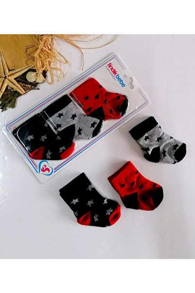 Aydınlar Erkek Bebek Yıldız Baskılı  Çorap Set 3 Lü0,6 Ay
